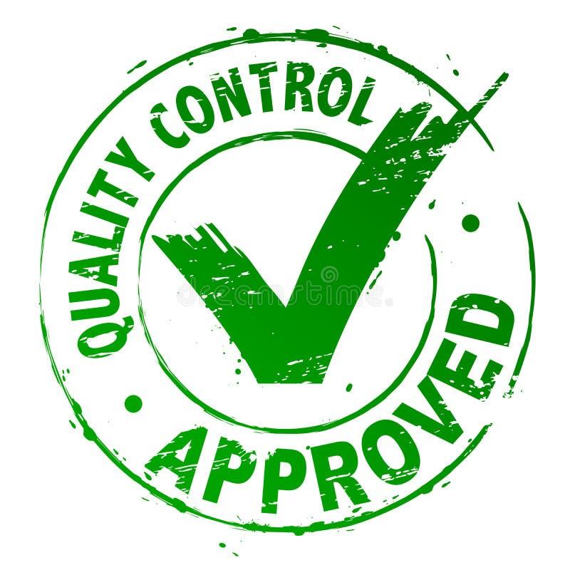 Le contrôle de qualité a reconnu illustration stock