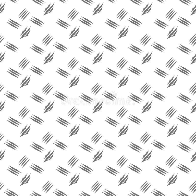 Le contrôle noir et blanc marque le modèle sans couture tiré par la main illustration stock