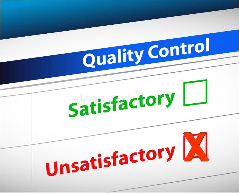 Le contrôle de qualité résulte des écritures d'affaires illustration de vecteur