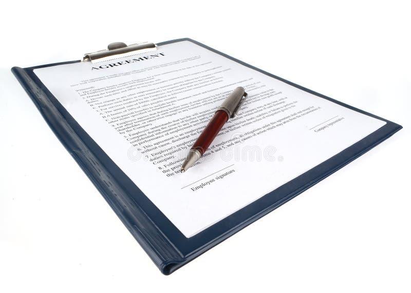 Le contrat (accord) image libre de droits