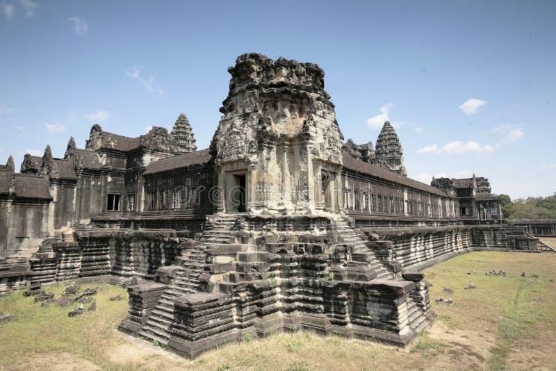 Le Conver du temple d'Angkor (Angkor Vat), Siem Reap, Cambodge image libre de droits