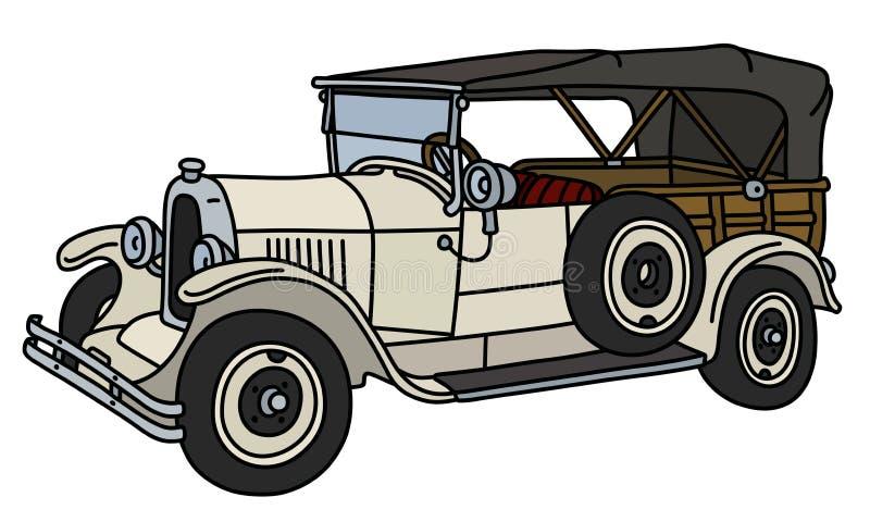 Le convertible blanc de vintage illustration de vecteur