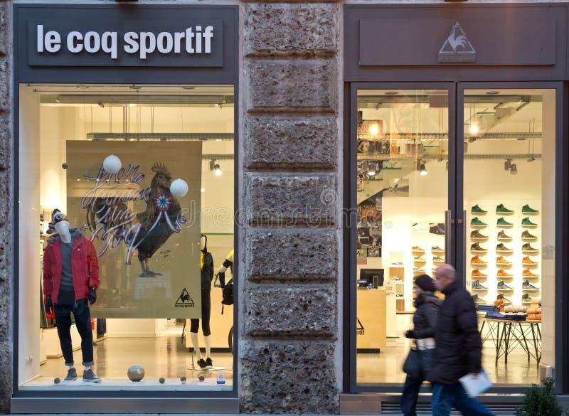 Le coq sportif商店 库存照片