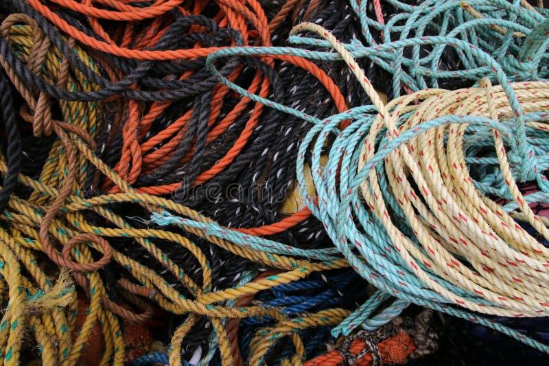 Le corde di pesca fanno un grande modello immagini stock libere da diritti