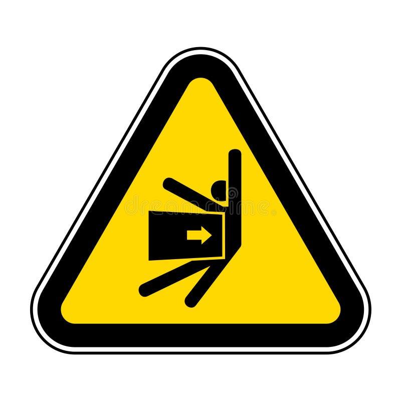 Le corps écrasent la force de l'isolat latéral de signe de symbole sur le fond blanc, l'illustration ENV de vecteur 10 illustration libre de droits