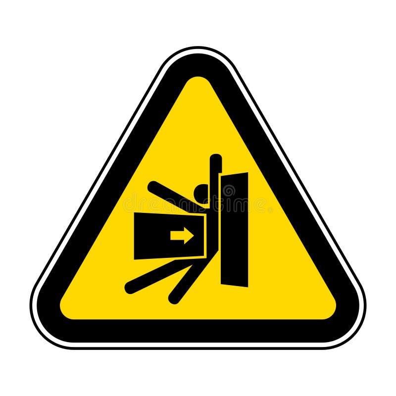 Le corps ?crasent la force du signe lat?ral de symbole, l'illustration de vecteur, isolat sur le label blanc de fond EPS10 illustration stock