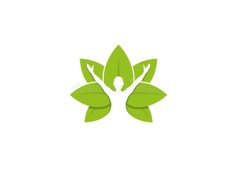 Le corps curatif part de Logo Design Illustration illustration de vecteur