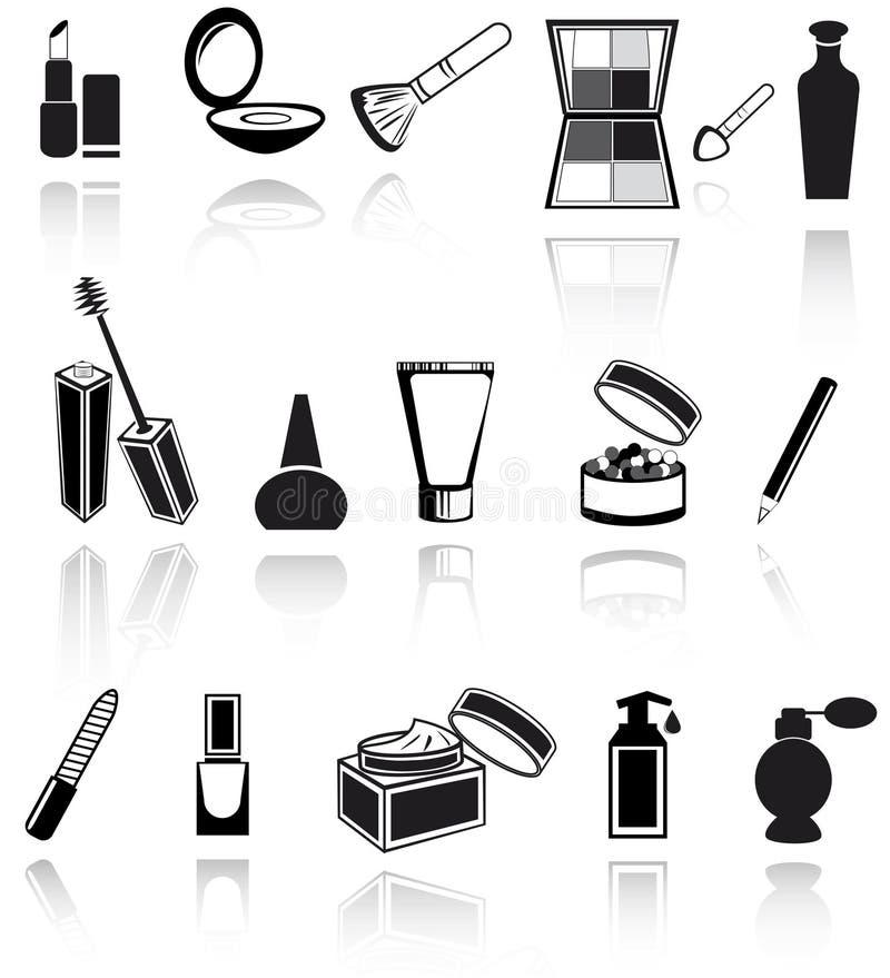 Le cosmétique, composent des graphismes illustration libre de droits