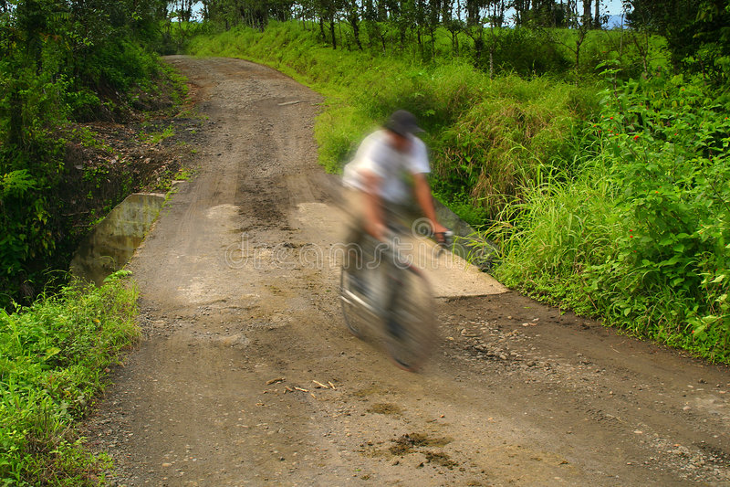Le Costa Rica Bicycllist photographie stock libre de droits