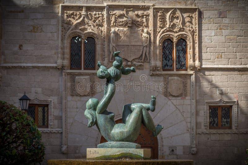 Le costruzioni antiche in una ciao storico della Spagna immagine stock libera da diritti