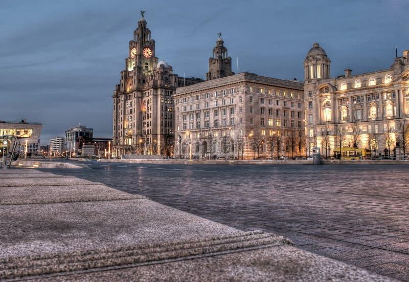 Costruzioni Liverpool del fegato fotografie stock libere da diritti