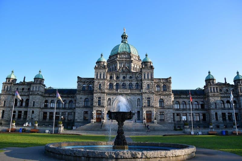 Le costruzioni del Parlamento a Victoria BC Canada fotografia stock libera da diritti