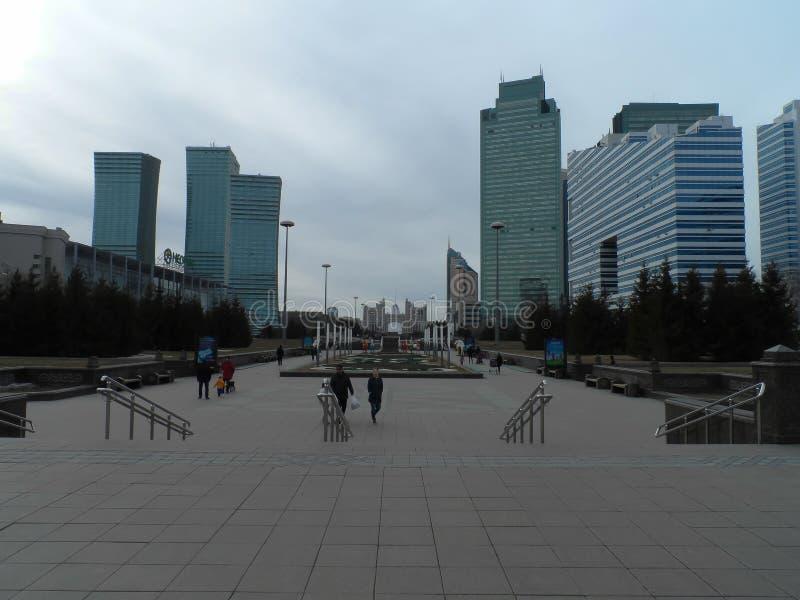 Le costruzioni osservano a Astana immagini stock