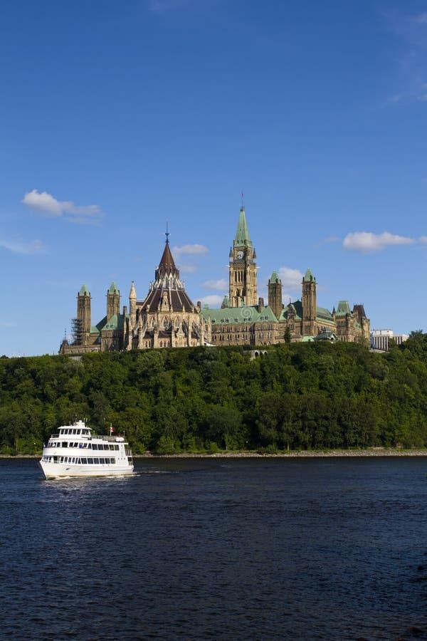 Le costruzioni Ottawa del Parlamento fotografia stock