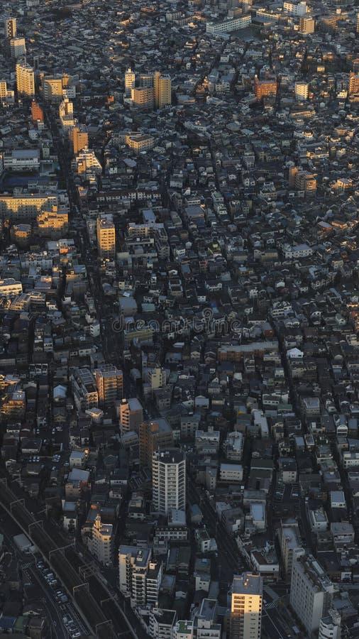 Le costruzioni a Tokyo immagini stock