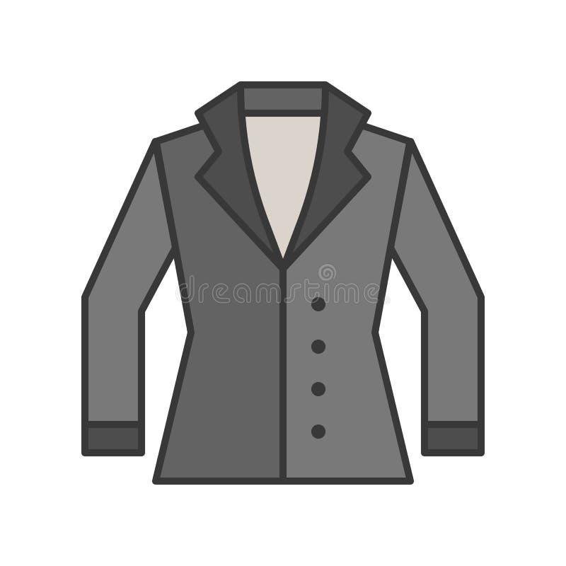 Le costume d'hiver, a rempli course editable d'ensemble de couleur illustration libre de droits