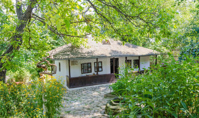 Le cottage d'Ion Creanga roumain d'auteur photo libre de droits