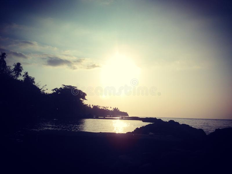Le coucher du soleil photos stock