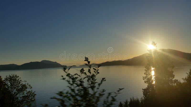 Le coucher du soleil d'océan image libre de droits