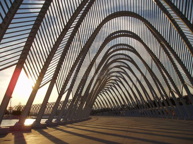 Le coucher du soleil de Calatrava images stock