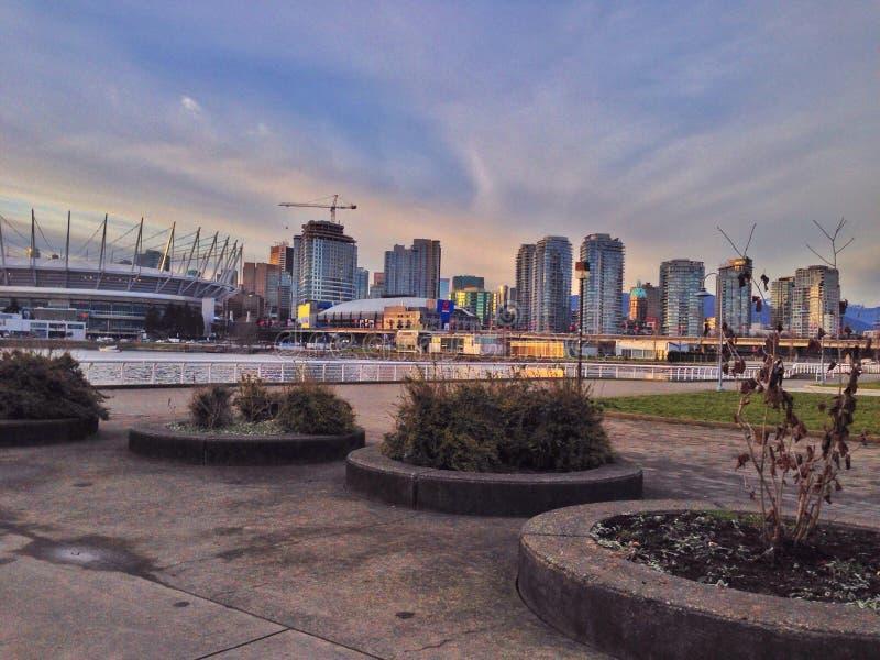 Le coucher du soleil de Vancouver image libre de droits