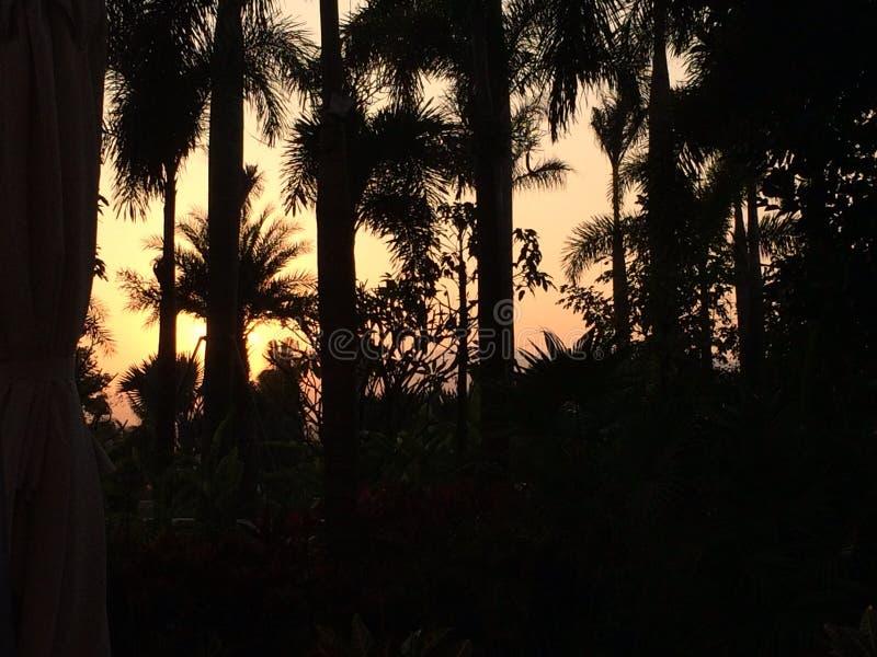 Le coucher du soleil de Yunnan image libre de droits