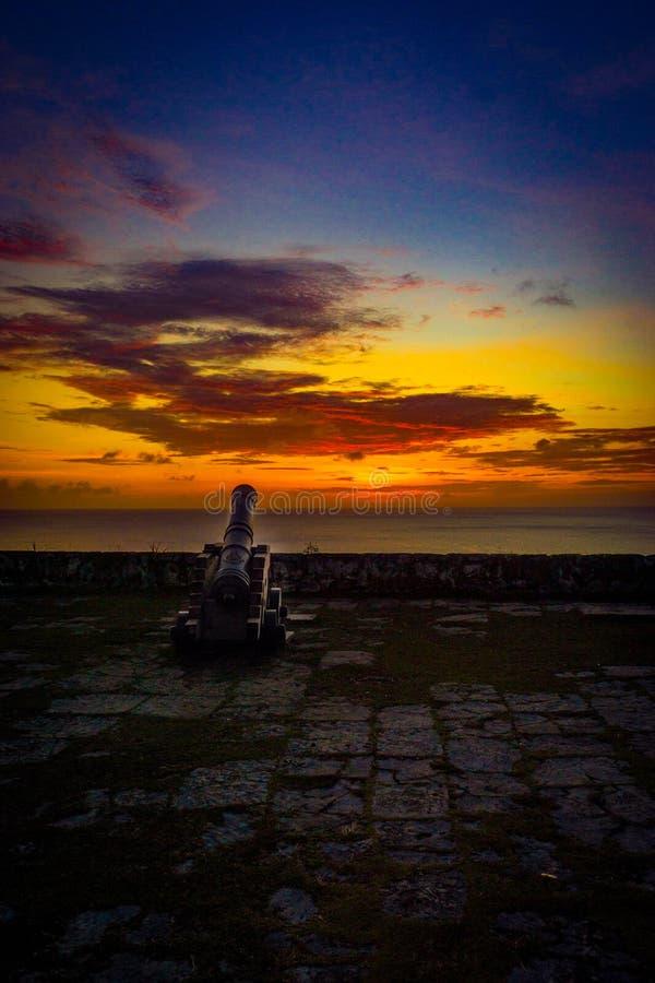 Le coucher du soleil isolé photographie stock libre de droits