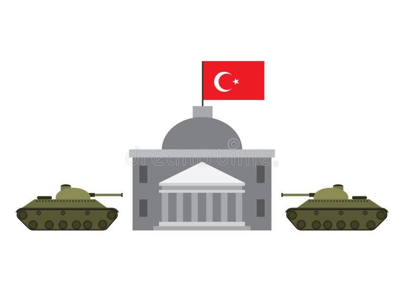 Le coup militaire illustration de vecteur