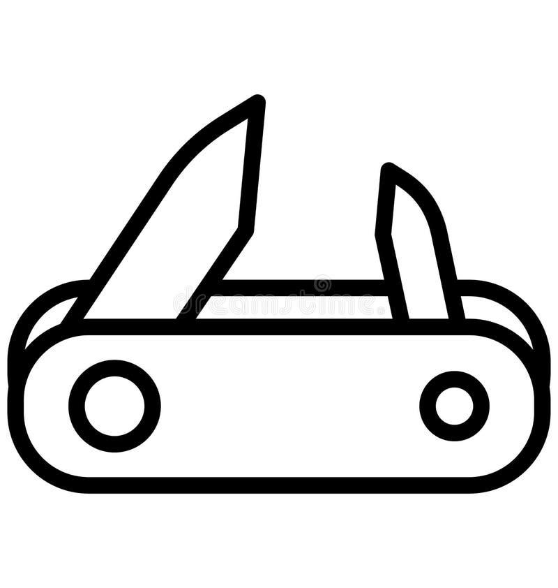Le coupe-ongles, l'icône de vecteur d'isolement par coupeur qui peut être facilement modifiée ou éditée illustration libre de droits