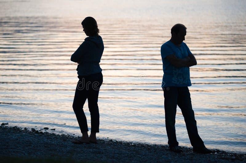 Le couple est fâché images libres de droits