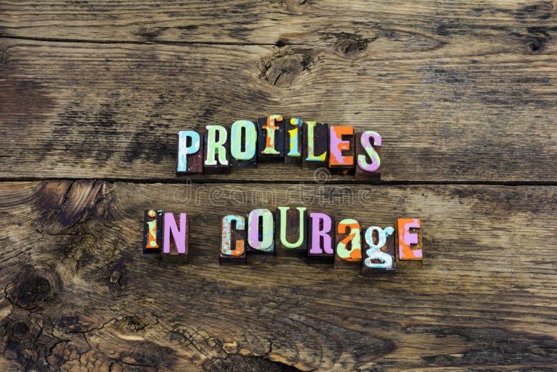 Le courage de profil fort protègent la typographie honnête photo stock