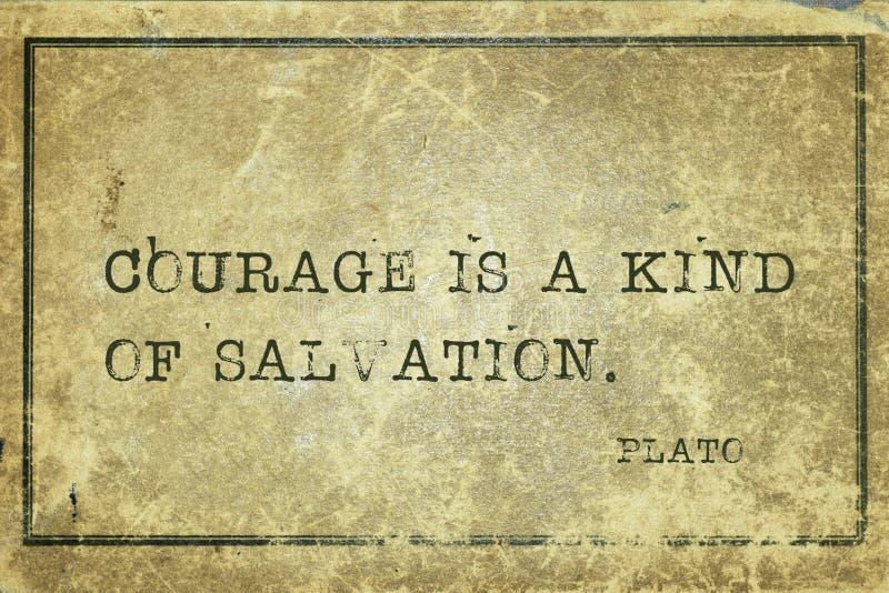 Le courage est Platon images libres de droits