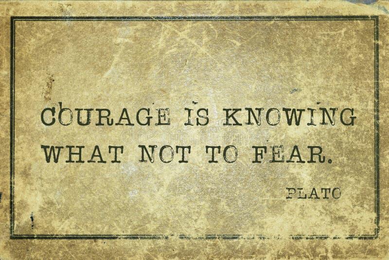 Le courage est Platon photos libres de droits
