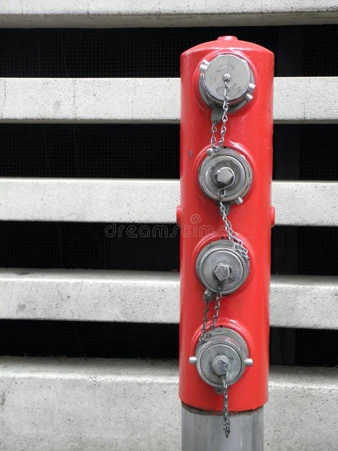 Le courrier rouge avec le tuyau d'incendie branche Portland, Orégon photo libre de droits