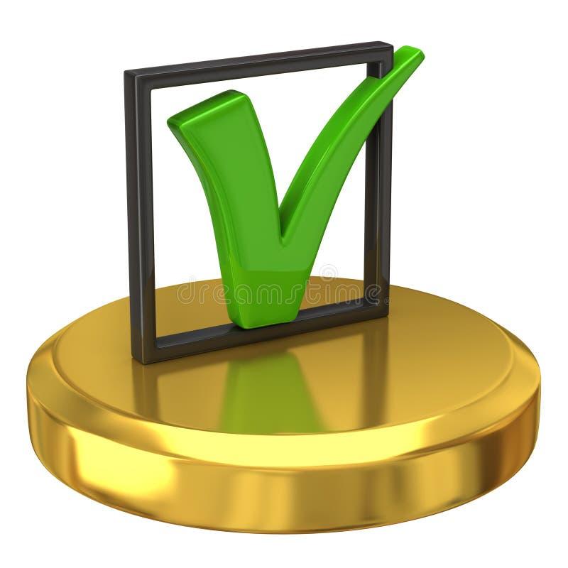 Le coutil se connectent le podiume d'or illustration libre de droits