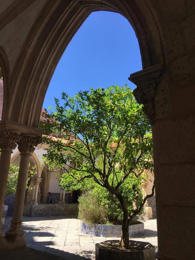 Le couvent du Christ - Tomar Portugal image libre de droits
