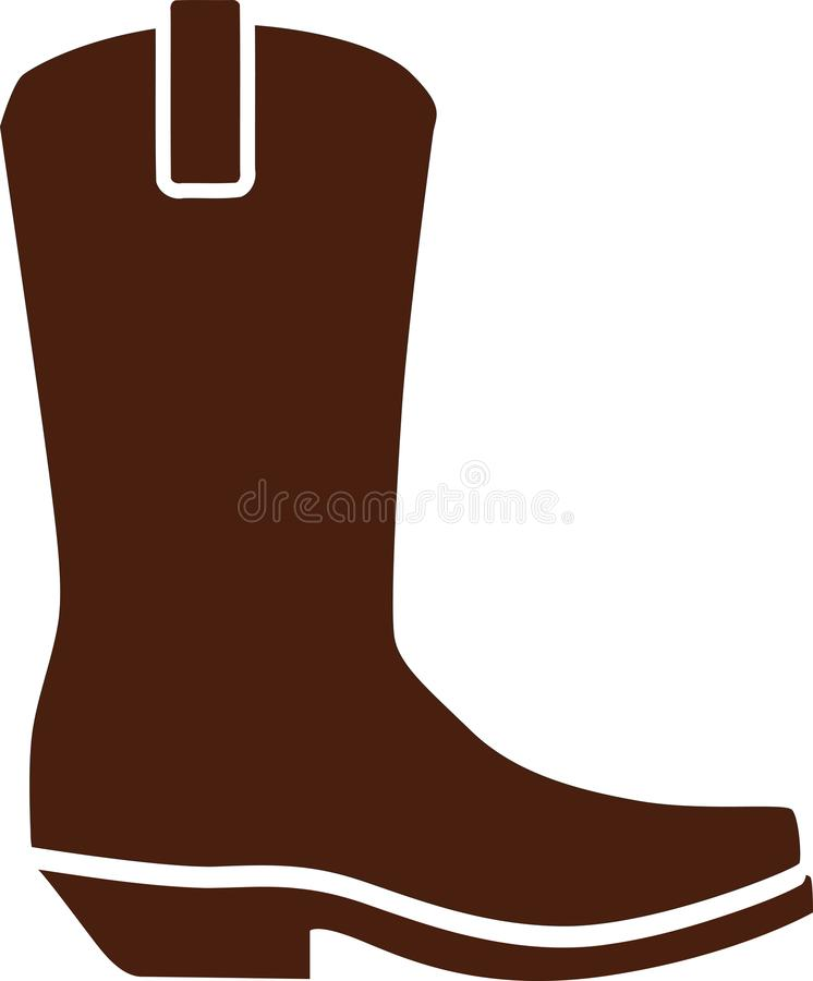 Le cowboy occidental chausse des bottes illustration stock