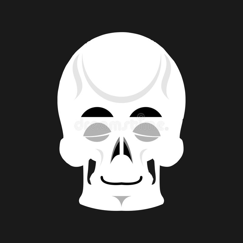 Le crâne dort Emoji émotion endormie principale squelettique d'isolement illustration stock