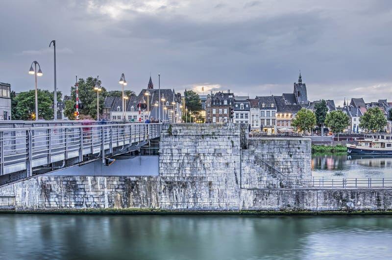Le crépuscule à Maastricht, Pays-Bas photo stock