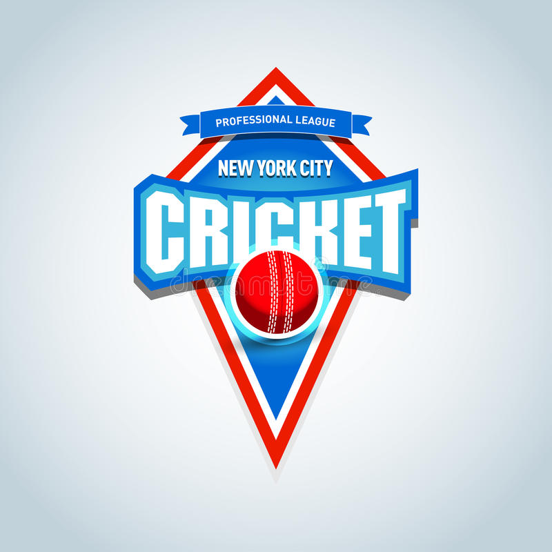 Le cricket folâtre le logo, label, emblème Calibre de logo d'insigne de cricket, graphiques de T-shirt de sport Illustration de v illustration de vecteur