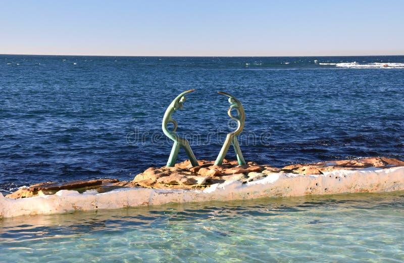 Le crisalidi di mare o la scultura dei Oceanides fotografia stock