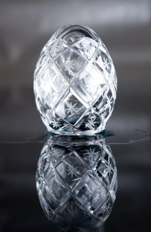 Le cristal de Pâques eggs l'instruction-macro photographie stock libre de droits