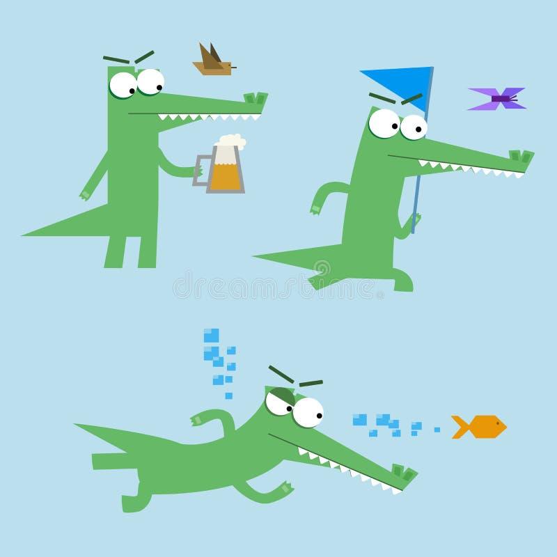 Le crocodile drôle chasse photo libre de droits
