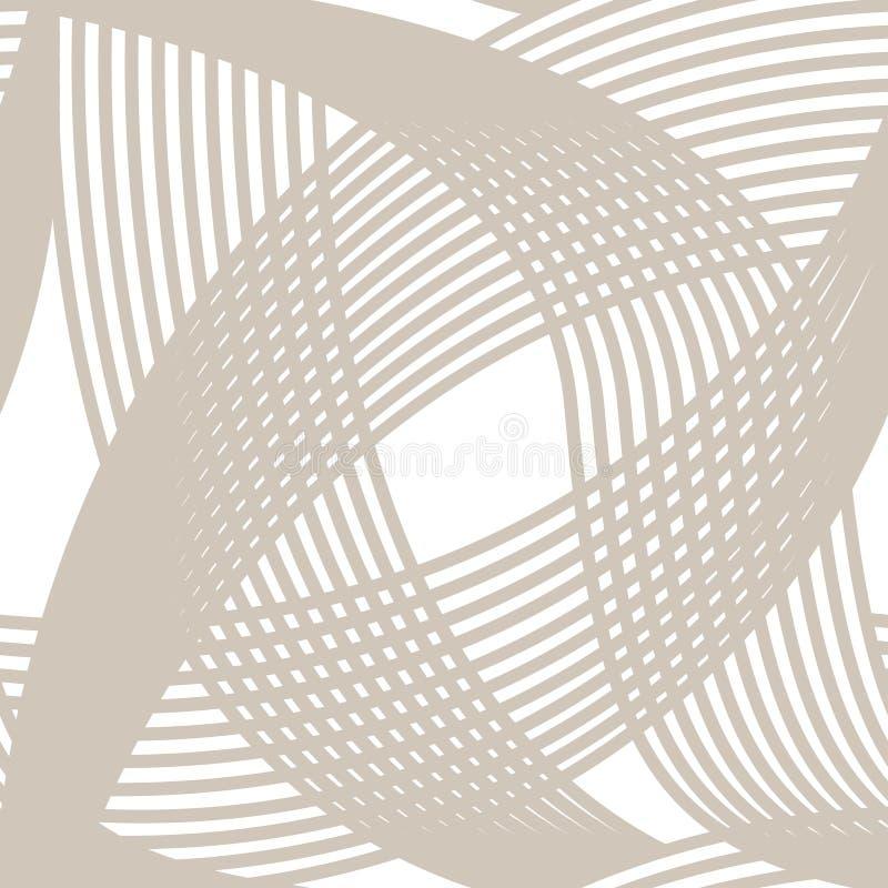 Le croisement raye le modèle sans couture sur le blanc illustration stock