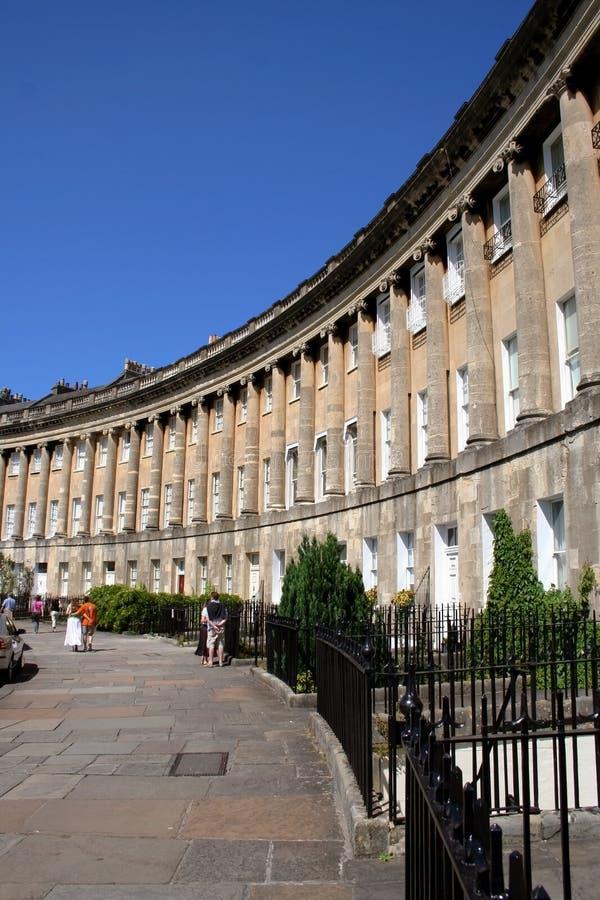 Le croissant royal à Bath, Angleterre images libres de droits