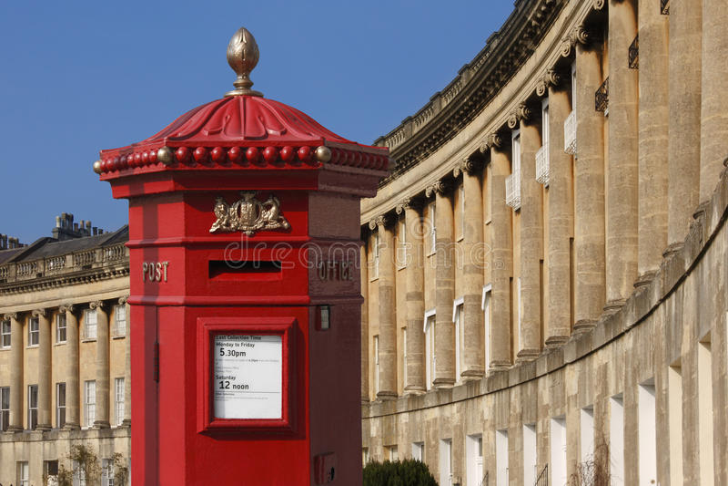 Le croissant - ville de Bath - l'Angleterre photo libre de droits