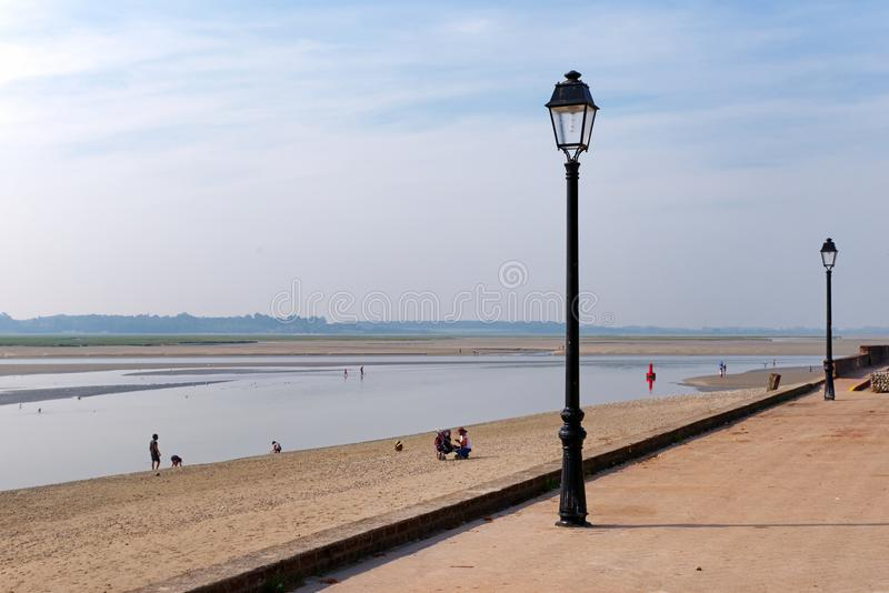 Le Crotoy city in the bay of the Somme. Le Crotoy city in Picardy coast royalty free stock image