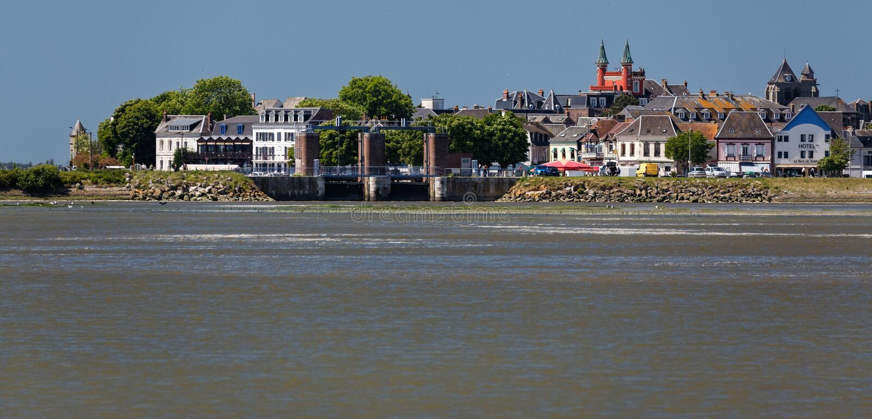 Le Crotoy. Port, & x22;Baie de Somme& x22 stock image