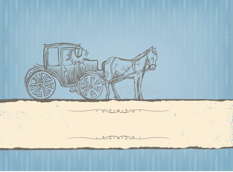 Le cru a dénommé la carte. illustration libre de droits