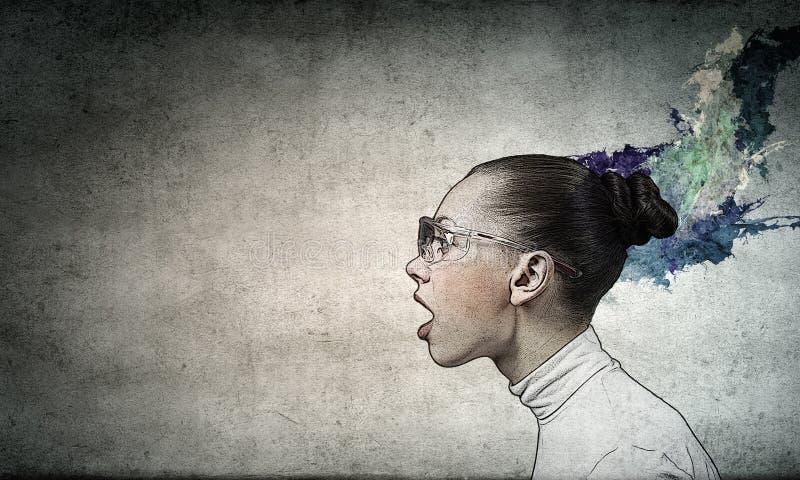 Download Le Cru A Dénommé La Verticale Illustration Stock - Illustration du femelle, garantie: 56481206